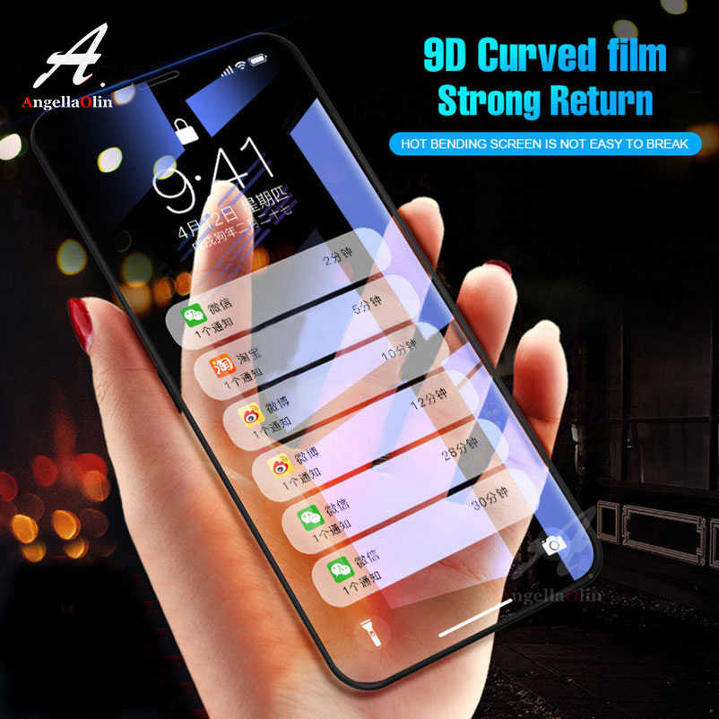 9D Curved Edge Tempered Glass Screen Protector For iPhone Xs Max 11 11R Pro XR X 10 7 8 6 6s plus 6S+ 9H Full Cover Film Case