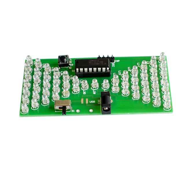 5V Electronic Hourglass DIY Kit Funny Electric Production Kits Precise With LED Lamps Double Layer PCB Board 84*40mm 1