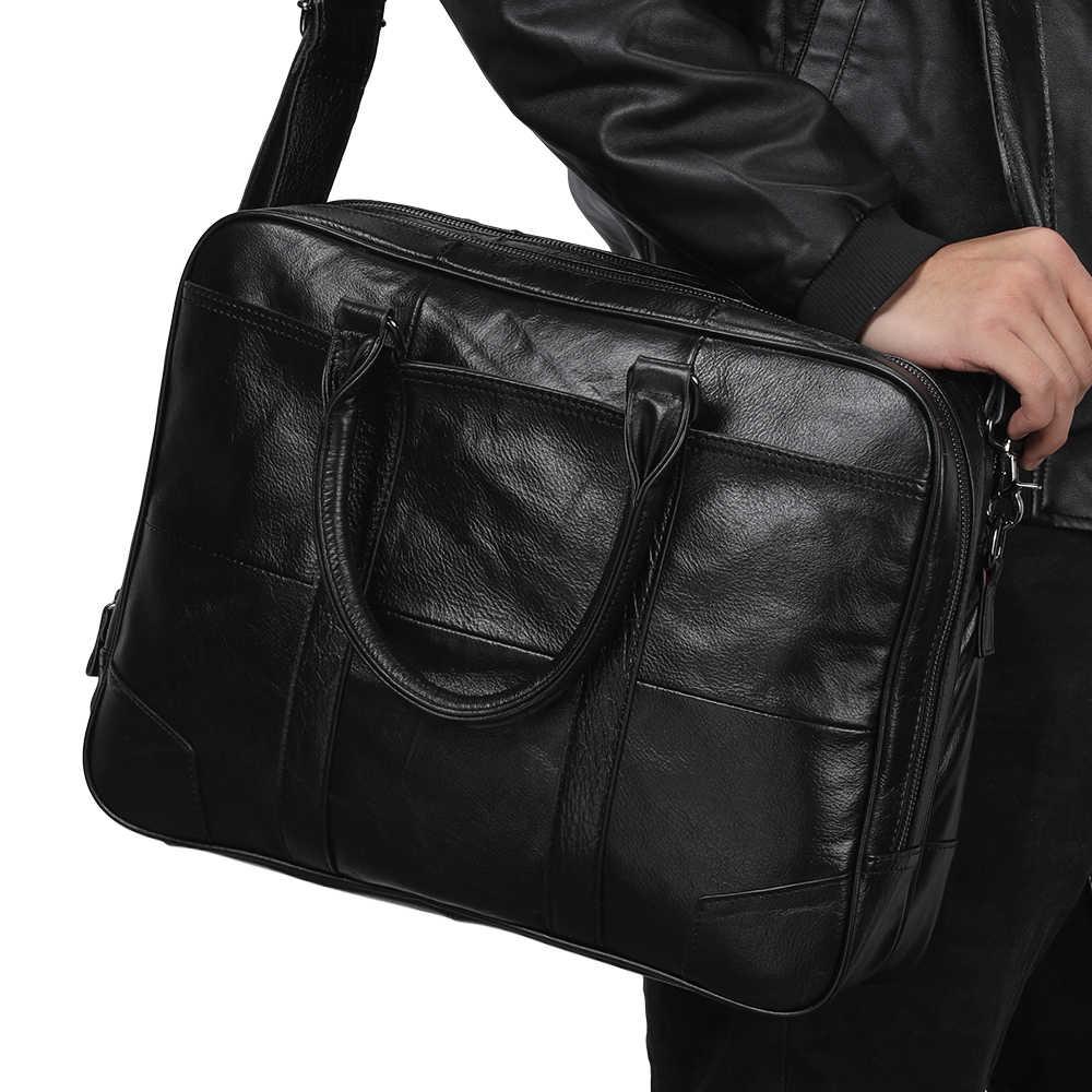 JOYIR bolso de cuero genuino bolso de negocios para hombre bolsos de mano para ordenador portátil bolsos bandolera bolsos de hombro bolso de cuero para hombre