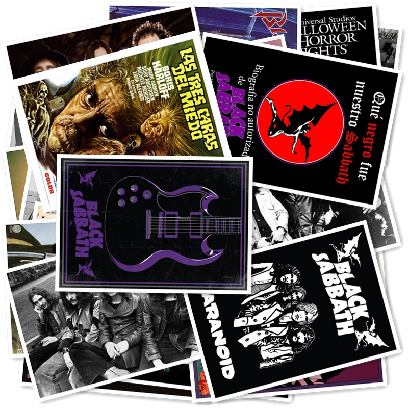 B1-2#  BLACK SABBATH Classic Series Sticker 20/pcs PVC Art Crafts Collection Gift Wall Design Sticker Graffiti