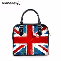 WHOSEPET UK USA Flag Printing Women S Hobo Messenger Girls Shop Online Handbags Designer Handbags High
