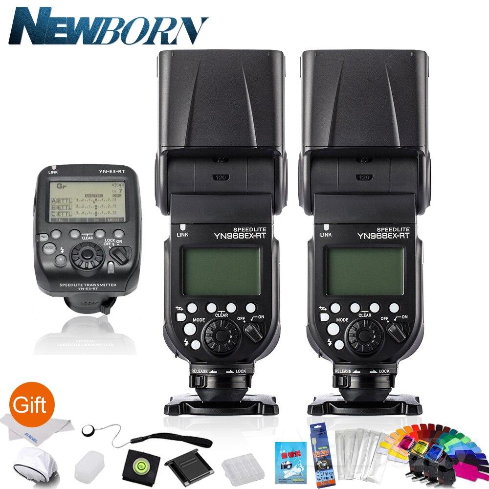 2*Yongnuo YN 968EX RT HSS E TTL Wireless Flash Speedlite +YN E3 RT For Canon Camera 600EX RT YN 600EX RT 5Ds R 1D X Mark II 6D