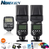 2*Yongnuo YN 968EX RT HSS E TTL Wireless Flash Speedlite +YN E3 RT For Canon Camera 600EX RT YN 600EX RT 5Ds R 1D X Mark II 6D