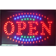 2016 New shop open sign direct selling led 10X19 inch semi-outdoor flashing custom signs