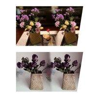 Ручной работы бамбуковые корзины для хранения складной лоскутное Плетеный ротанговый садовый плетеная корзина горшок для цветов корзина Д