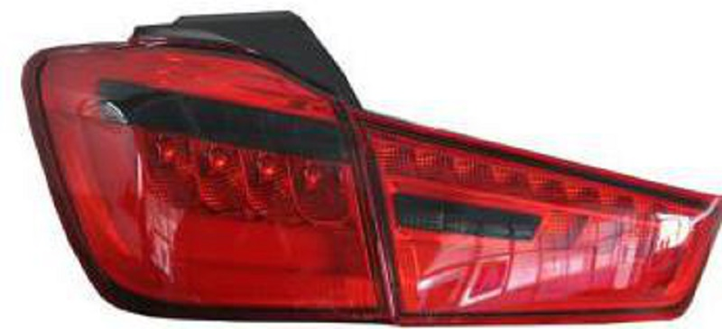 KUNFINE Pair Of Car Tail Light Assembly For MITSUBISHI ASX 2012 2013 2014 2015 2016 Brake Light With Turning Signal Light решетка радиатора mitsubishi asx 2 шт 2010 2013