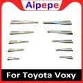 ABS хромированные передние противотуманные фары крышка планки Foglight Полосы Аксессуары для Toyota Voxy R80 2014 2015 2016 2017 2018