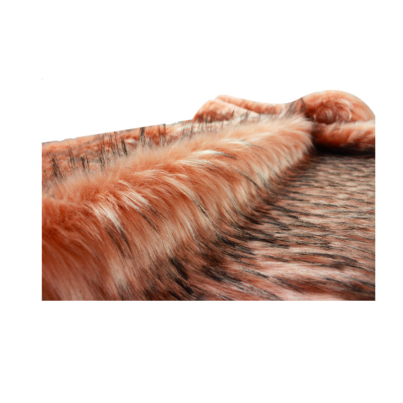 Faux fur meter wasbeer haar thuis tectile kleding tassen schoenen en hoeden pluche bekleding pluizige warmer dikke stof - 2