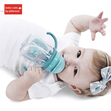 Babycare 260ml Baby Feeding Water Bottle With Straw Infant Kids Silicone Portable No Spill Slide Cover Cup Children