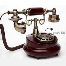 Placa giratoria de teléfono Vintage europea, Dial giratorio, teléfono fijo antiguo, oficina, hogar, Hotel, teléfono