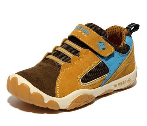 2017 Genuine Leather Children Shoes Waterproof Kids Sneakers Breathable Girls and Boys Sports Shoes Outdoor Trainers Size 28-37