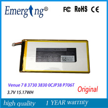 3.7V 15.17Wh New Tablet  Battery for Dell  Venue 7 8 3730 3830 0CJP38 P706T