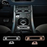 3 colors Car Brake Decoration Hand Brake Center Electronic Button Control Stickers For Land Rover ROVER Evoque Freelander 2