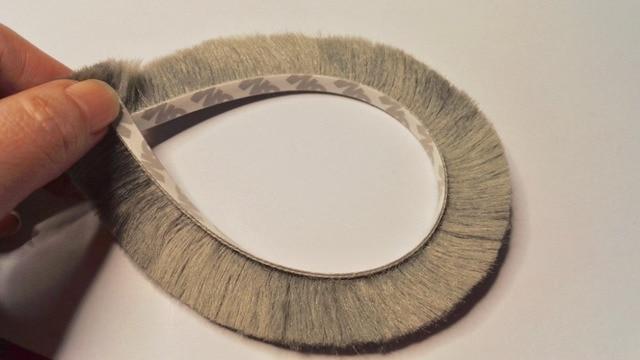 Self Adhesive Sealing Strip Felt Draught Excluder Wool