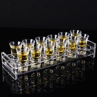 Acrylic Bullet cup rack KTV glass a cup of spirits Wine rack swallow cup home liquor Cup set gift Reusable straw keg CL01231138
