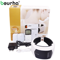 Beurha Pulse Rechargeable Infrared Neck Massage Wireless Remote Control Cervical Massager Electric Vertebra Treatment SPA Device