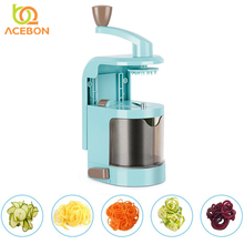4 Blade Multifunction Spiralizer Vegetable Veggie Pasta Spaghetti Potato Vegetable Spiral Cutter Zucchini Slicer Kitchen Tools hot sale 3 in 1 spiral vegetable choppers slicer spiralizer fruit veggie cutter twister peeler kitchen accessories