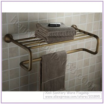 Retail- Luxury Brass Towel Racks, Double Tier, Bronze Finish Towel Holder Wall Mounted, Free Shipping L15606