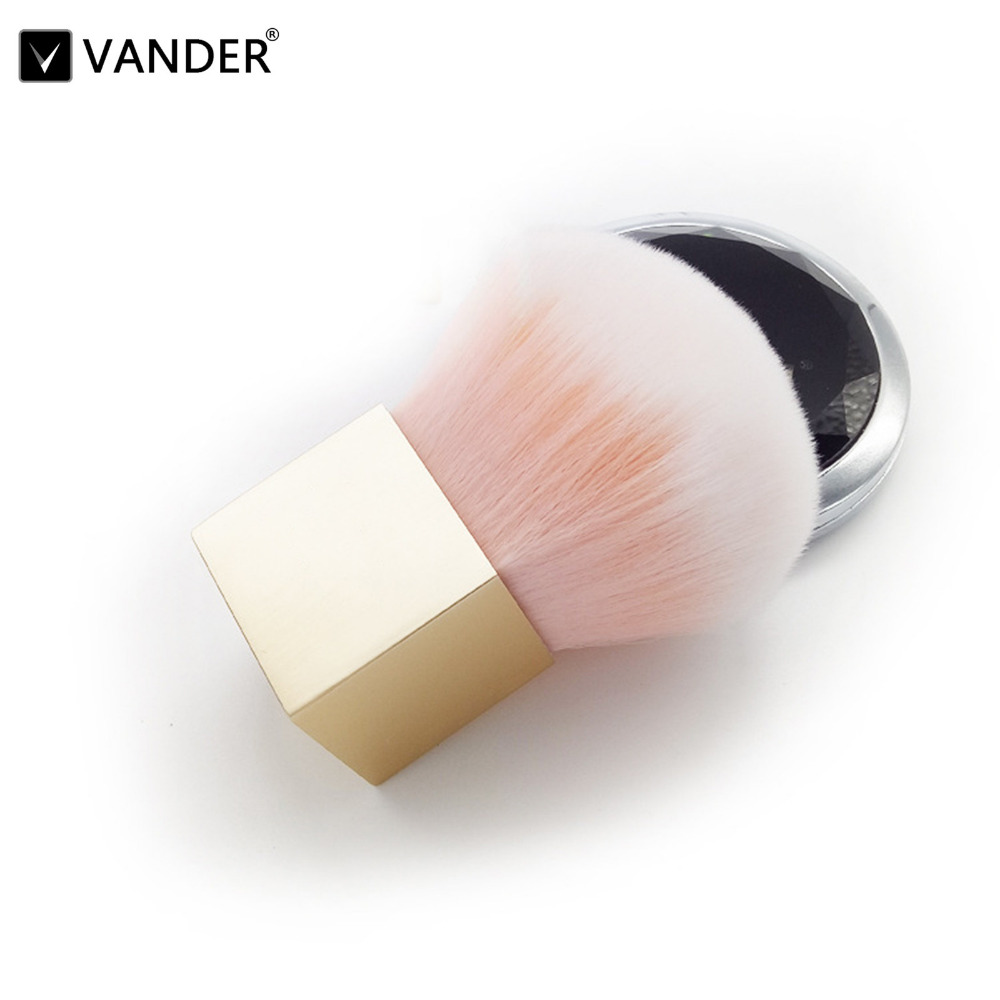 VANDER Professional Soft Cosmetic 1Pcs Make up Brush Woman's Blusher Foundation Blush Powder Kit make-up brush Kabuki Tool professional bullet style cosmetic make up foundation soft brush golden white