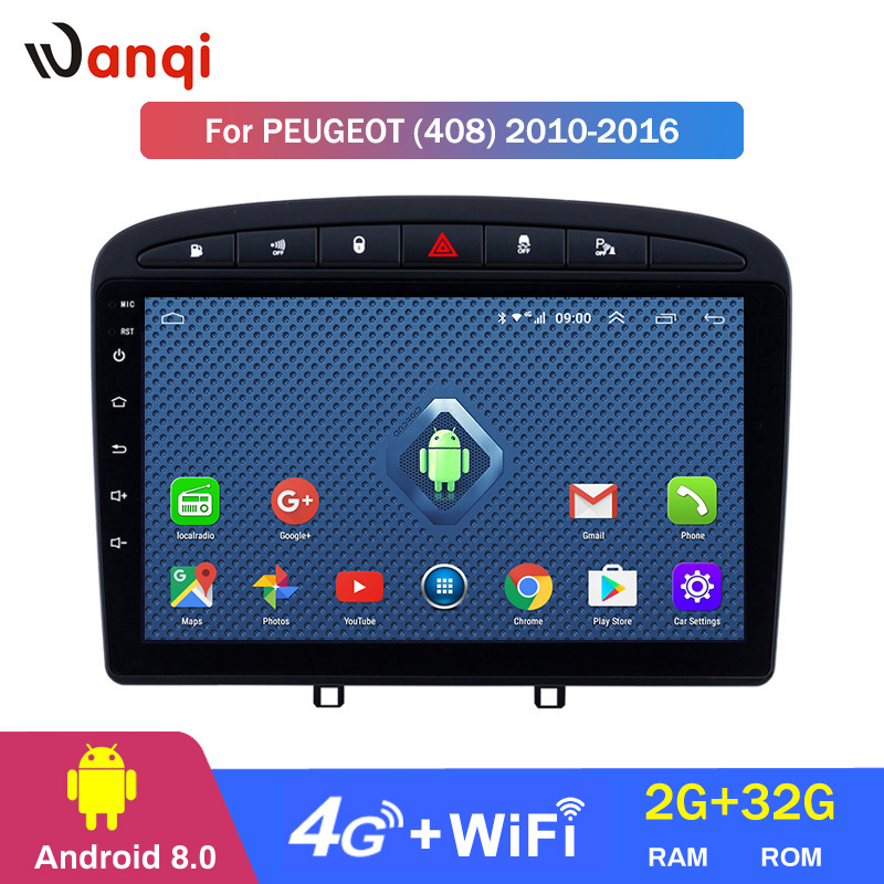 <font><b>Android</b></font> <font><b>8.0</b></font> 2+32G 4G .wifi 9 inch Car gps radio for 2010-2016 <font><b>PEUGEOT</b></font> <font><b>308</b></font> 408 with Bluetooth Mirror Link image