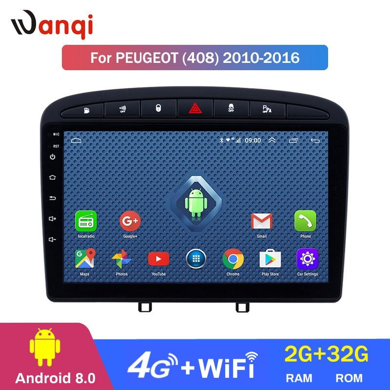 4G Lte Todos Netcom 9 polegada Android 8.0 Stereo Car para 2010-2016 PEUGEOT 308 408 de Navegação GPS com Bluetooth Ligação Espelho Wi-fi