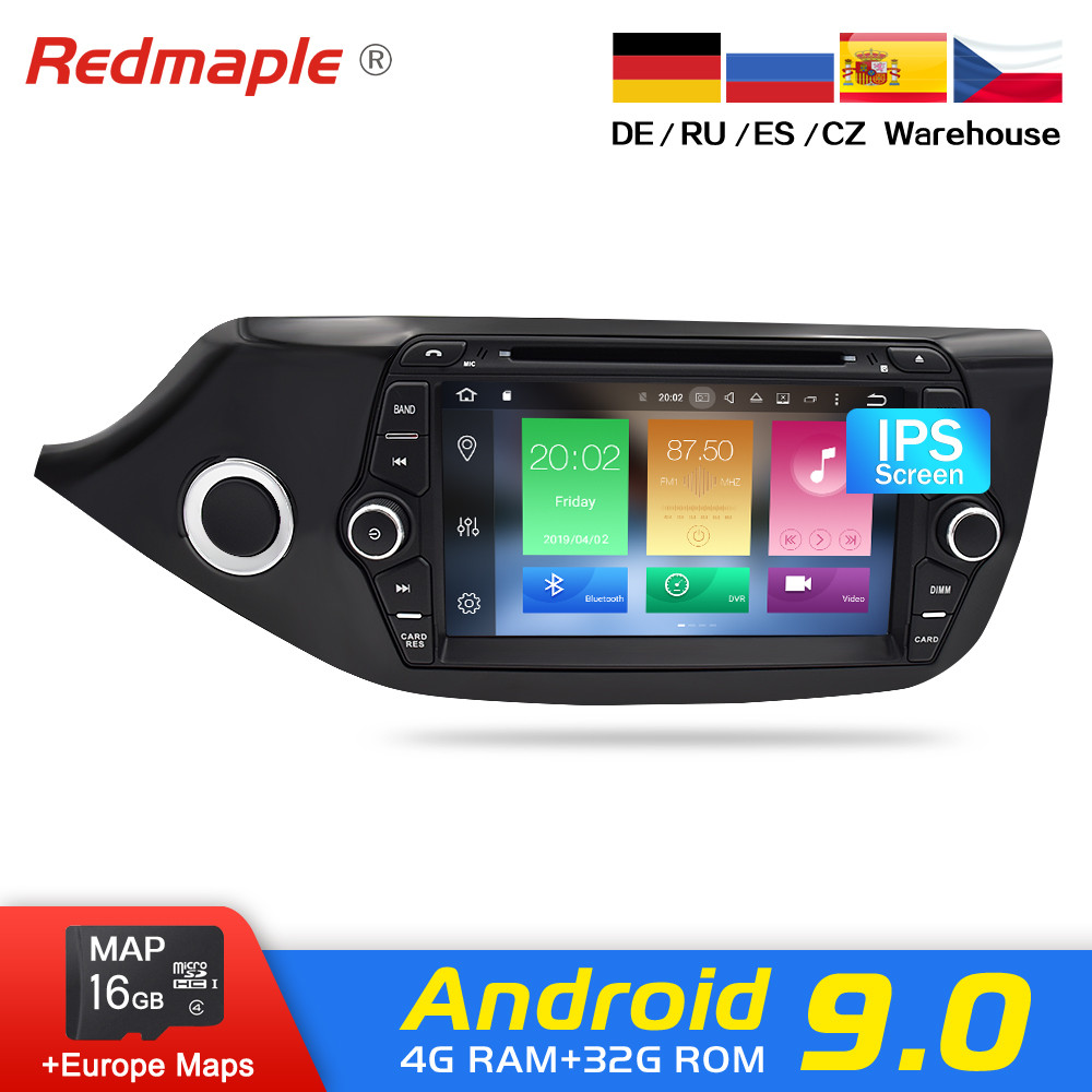 Android 9.0 Car Radio GPS Navigation Multimedia DVD Player For Kia Ceed 2012-2016 Auto RDS Audio WIFI Bluetooth Video Stereo