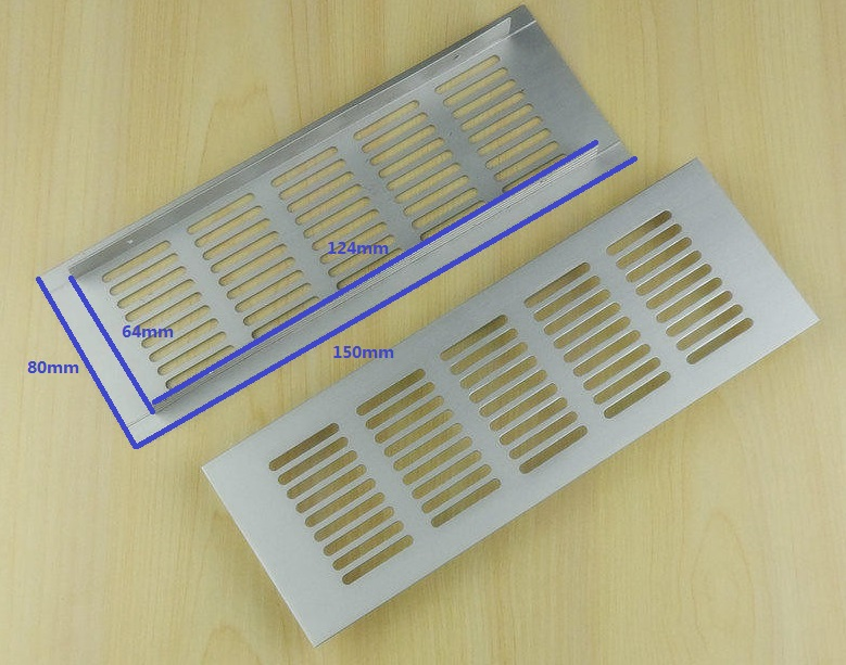 Kitchen Cabinet Parts Samsung Appliance Package 10pcs/lot 150*80mm Anodized Aluminum Air Vent Ventilator ...