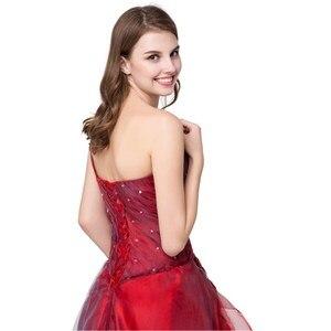 Image 5 - Ruthshen כדור שמלת Quinceanera שמלות Vestidos דה 15 אדום Sweet Sixteen שמלת אחת כתף נשף שמלות Robe דה Bal 2019