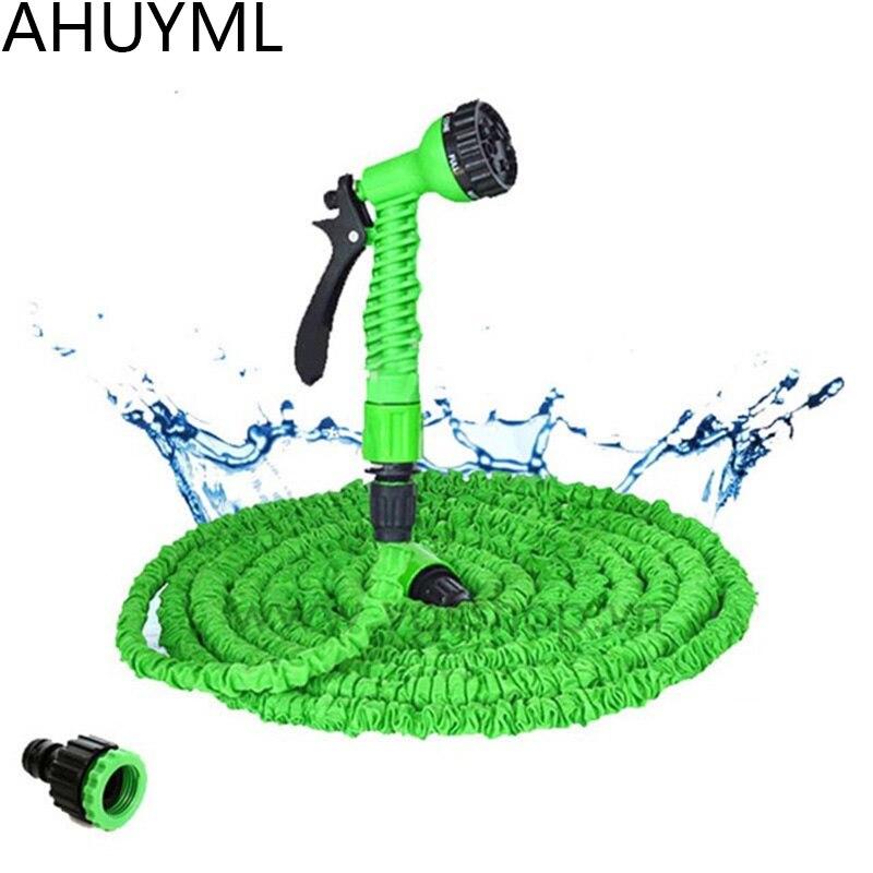 25FT-250FT садовый шланг расширяемый волшебный гибкий водяной шланг для воды пластиковые шланги труба с распылителем для полива автомойки спре...
