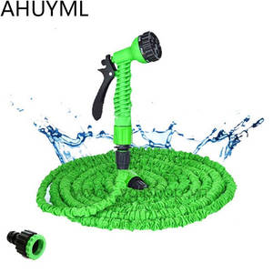 Hoses-Pipe Spray-Gun Expandable Garden-Hose Watering-Car Plastic Magic Flexible 25FT-250FT