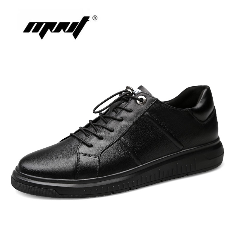 New Designer Genuine Leather Men Shoes Autumn Platform Lace up Men Sneakers Waterproof Outdoor Casual Shoes