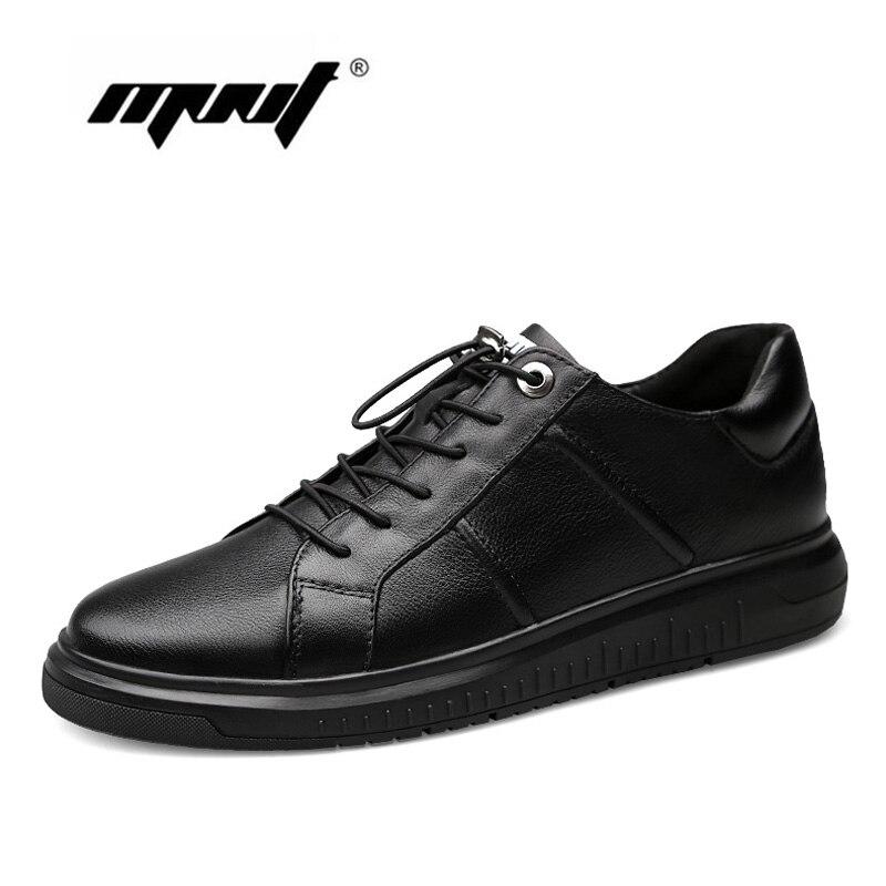 Nouveau Designer cuir véritable, homme Chaussures Automne Plate-Forme à lacets Hommes Sneakers Imperméable À L'eau En Plein Air chaussures décontractées Hommes livraison directe
