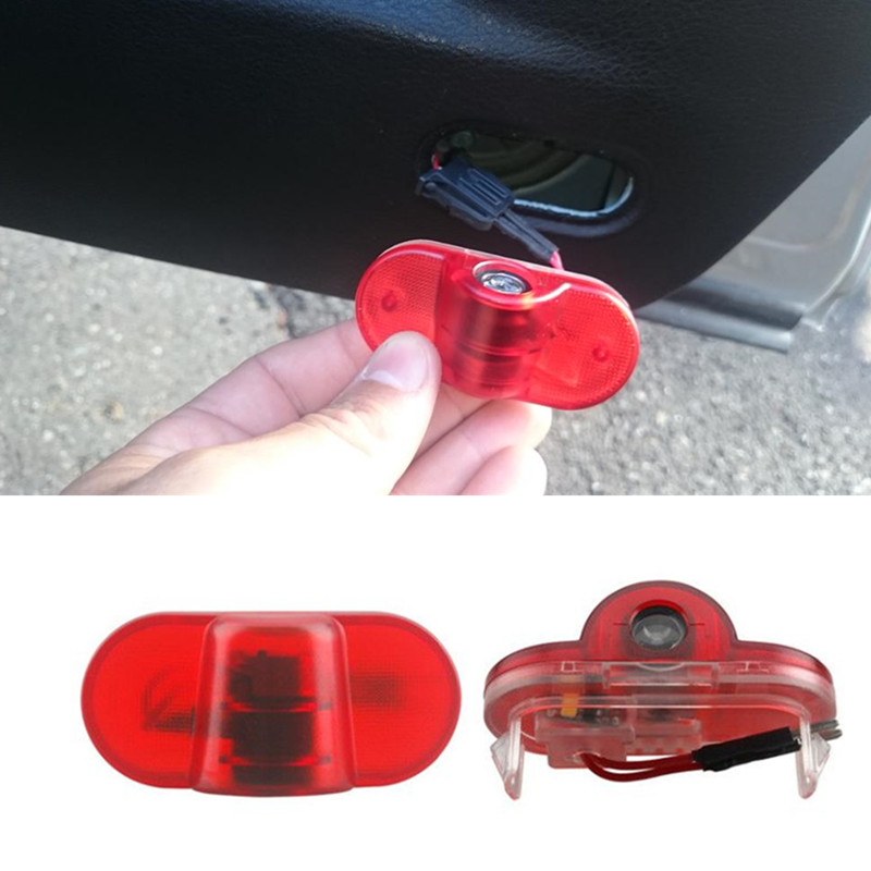 все цены на 2X Car LED Ghost Shadow Projector Laser Courtesy Logo Door Light For VW Golf 4 MK4 Lavida Beetle Golf4 Touran Caddy Bora Beatles