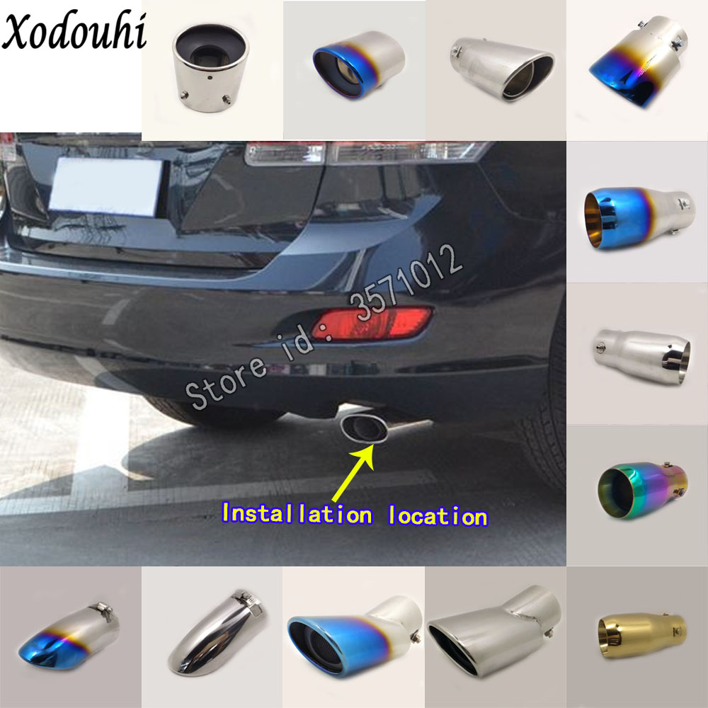 For Toyota Venza 2009 2014 2015 2016 car cover muffler exterior back pipe dedicate exhaust tip tail outlet ornament vent 1pcs