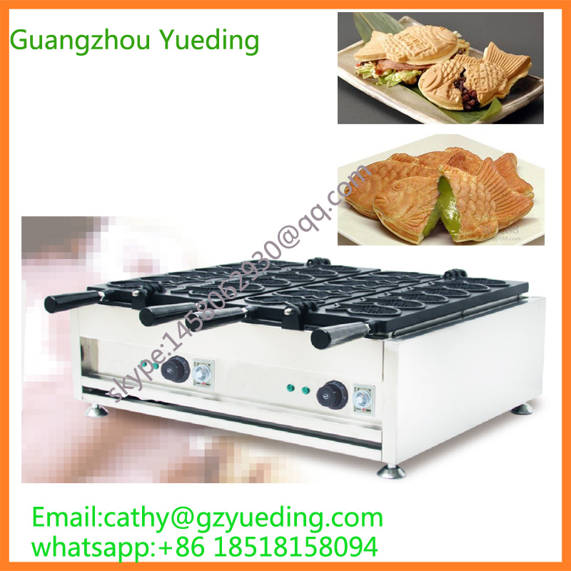 Commercial Taiwan ice cream taiyaki machine/fish making machine/waffle maker taiyaki fish maffle maker waffle ice cream machine