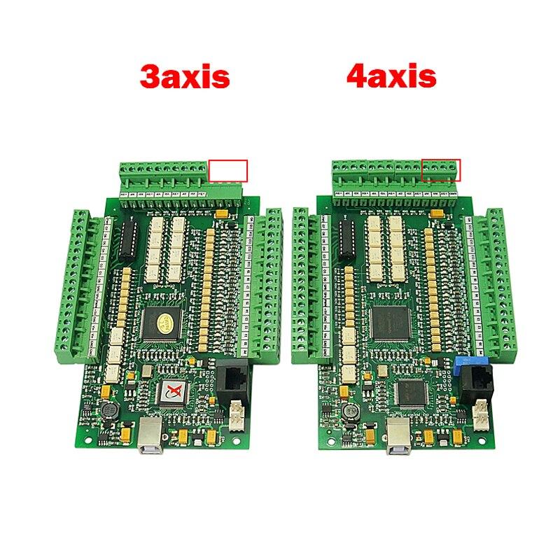 4 axis cnc lathe machine Motion Controller USB Card Mach3 200KHz Breakout Board Interface wood router tools Числовое программное управление