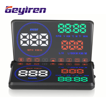 Geyiren m9 5 5 hud car head up display windscreen projector obd2 euobd car driving data.jpg 350x350