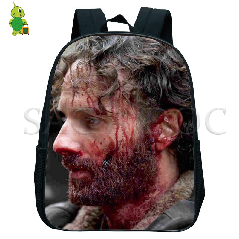 The Walking Dead Rick Grimes Backpack Children School Bags Baby Boys Girls Primary Kindergarten Backpack Kids Small Book BagsThe Walking Dead Rick Grimes Backpack Children School Bags Baby Boys Girls Primary Kindergarten Backpack Kids Small Book Bags