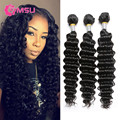 Maxglam Hair Brazilian Deep Curly Virgin Hair Bundle Deals 7A Virgin Brazillian Deep Wave Hair Weaving 3pcs Lot Beauty Forever