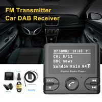 2.4 LCD Car DAB Receiver Tuner FM Transmitter Adapter Antenna USB Plug and Play CT With Car Charger