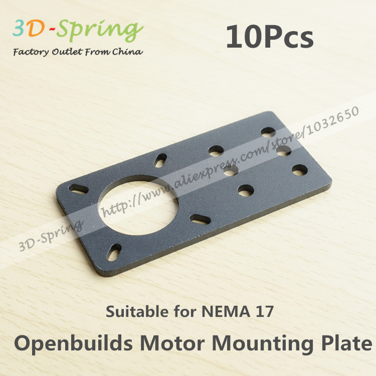 10Pcs Openbuilds Motor Mount Plate For NEMA 17 82*39.5*3mm Aluminum Alloy CNC Special Fixing Plate For 3D Printer 1pcs openbuilds motor mount plate for nema 17 82 39 5 3mm aluminum alloy cnc special fixing plate for 3d printer