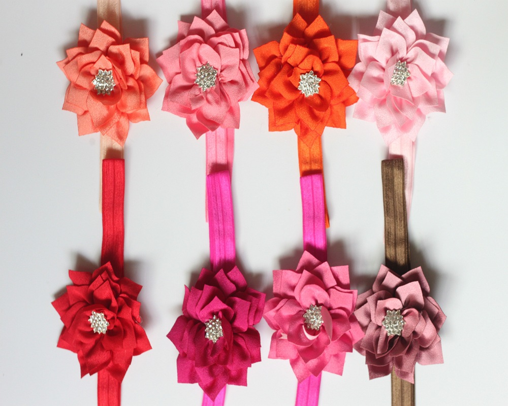 Diy jewelry children baby hair accessories headband lotus flower diy jewelry children baby hair accessories headband lotus flower hair band plus drill kids accessories fabric flowers 16 colors in hair accessories from mightylinksfo