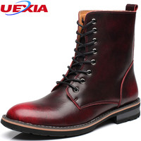 Leather Men S Boots Rubber Pointed Ankle Boots Men Shoes High Top Footwear High Top Autumn