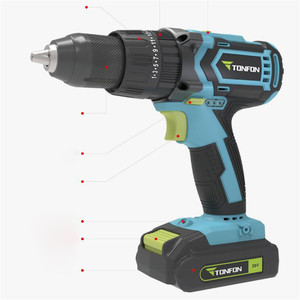 Image 4 - Youpin Tonfon Wireless Electric Cordless Drill Impact Power Driver 12/20V 2000mAh Battery 2 Speed EU Adapter For Home Work