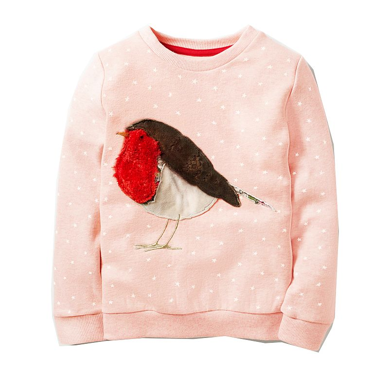 Toddler Sweatshirt Baby Girls Hoodies Kids 2018 Girl Clothes Winter Children Hoodies for Girls Sweatshirt with Animal Applique 1