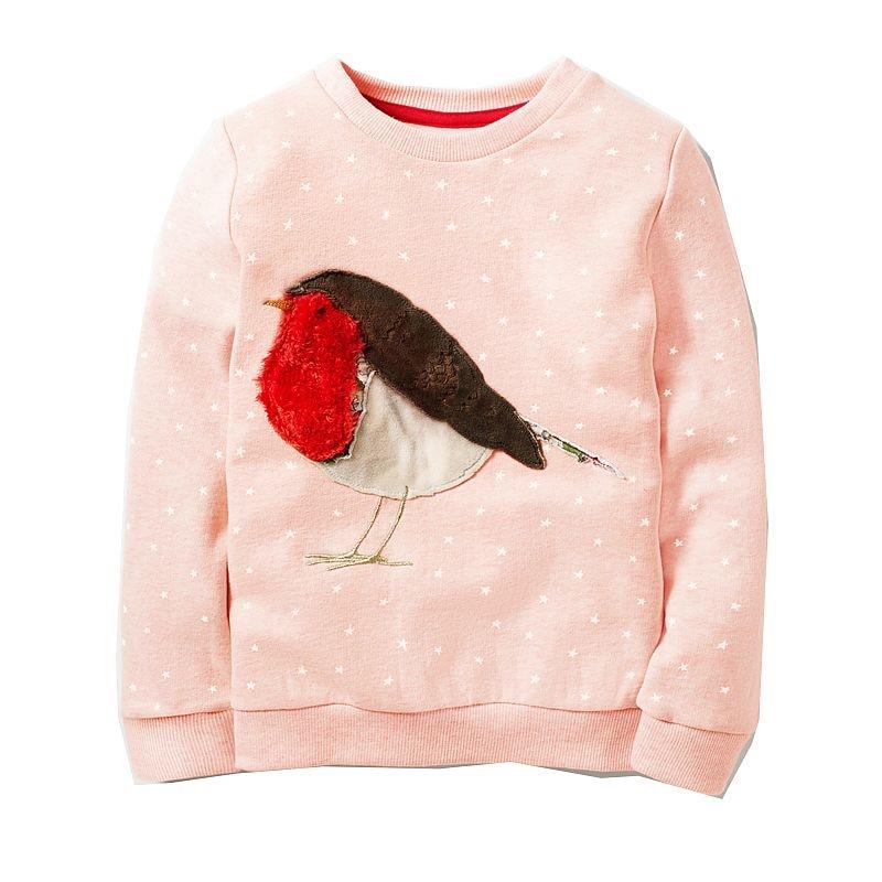 Toddler Sweatshirt Baby Girls Hoodies Kids 2018 Girl Clothes Winter Children Hoodies for Girls Sweatshirt with Animal Applique 1