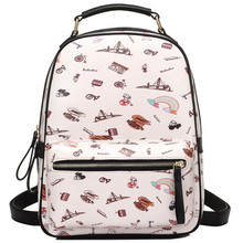 Колледж Рюкзаки Симпатичный мультфильм шаблон плеча Водонепроницаемый Для женщин Мода элегантный дизайн печати школьные Рюкзаки SAC DOS