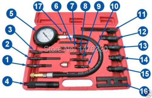 Image 2 - Car Diesel Engine Cylinder Presssure Diagnostic Test Tool Auto Compression Detector Repair Tool For BMW Ford VW Mercedes AT2128-in Pressure & Vacuum Testers from Automobiles & Motorcycles on