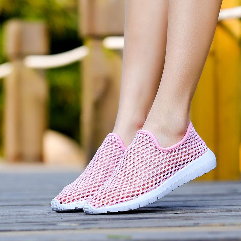 blanc Chaussures forme rose Casual Appartements Occasionnels En rose Rouge Noir Femelle 2018 35 40 Lady N579 Plate Femmes Mocassins Nouvelles Sneakers Tricot Respirant Rw1gEOq