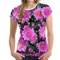 FORUDESIGNS Harajukus Style Women Fashion T Shirt Flower Rose Prints Woman Tee Crop Tops Female Brand